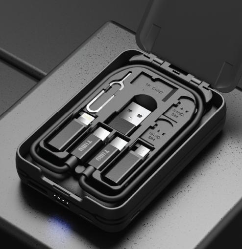 티뮤 멀티 충전 케이블 박스 TA-P1+보조 배터리