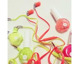 픽스 네온 이어폰 : FIX XE-302 / 네온컬러 칼국수 이어폰 / 가성비좋은 커널형 단선방지 이어폰