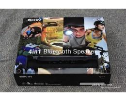 휴대용 블루투스 스피커에 LED후레쉬, 보조배터리 까지 4IN1 블루투스 스피커 바이킨