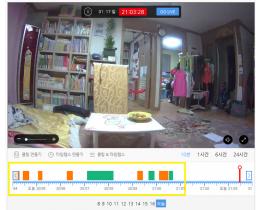 [토스트캠] 터치나 스크롤로 간편하게 이동하여 확인하는 클라우드 기반의 CCTV