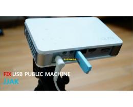 스마트폰 동글 짝 - 스마트폰을 무선으로 TV,빔프로젝터에 연결하는 픽스 USB공유기 JJAK