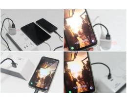 스마트폰 2개를 한번에 충전 픽스 큐 듀얼 충전기 & 픽스 큐 케이블